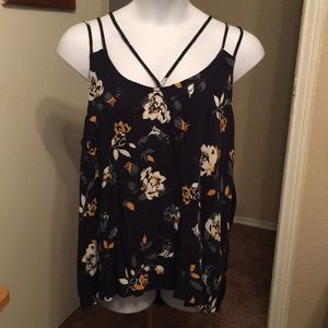 Maurices 3x black sleeveless with straps
